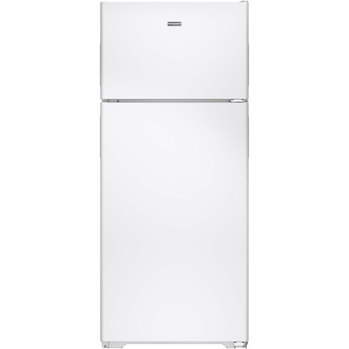 Hotpoint 18 C/F Refrigerator with Top Freezer, Wire Shelves, No Ice Maker,  Energy Star, HPS18BTHWW, White