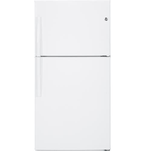 General Electric 21 C/F Refrigerator with Top Freezer, Glass Shelves, No Ice Maker, Energy Star,GTE21GTHWW, White