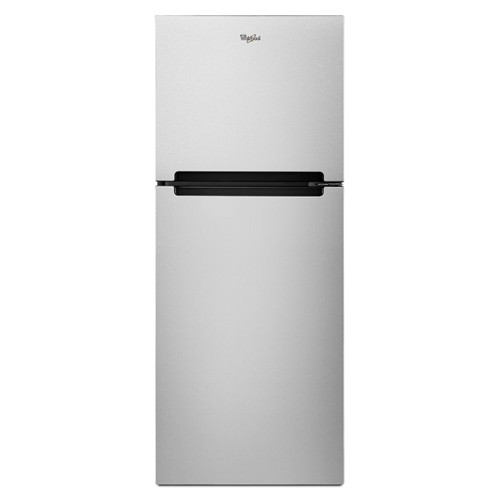 Whirlpool 11 C/F Refrigerator with Top Freezer Glass Shelves, No Ice Maker, ADA Compliant,WRT111SFDM, Stainless Steel
