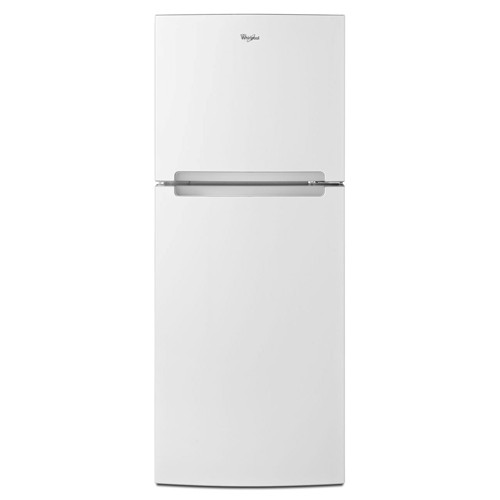Whirlpool 11 C/F Refrigerator with Top Freezer Glass Shelves, No Ice Maker, ADA Compliant, WRT111SFDW, White
