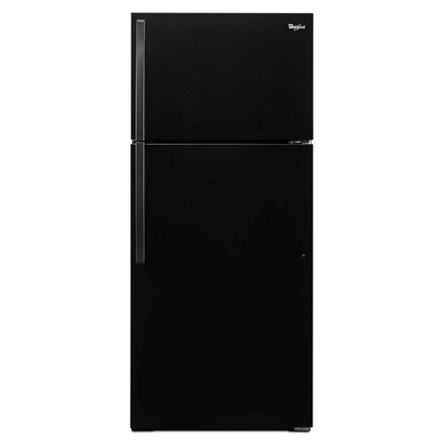 Whirlpool 14 C/F Refrigerator with Top Freezer Wire Shelves, No Ice Maker, ADA Compliant, WRT106TFDB, Black