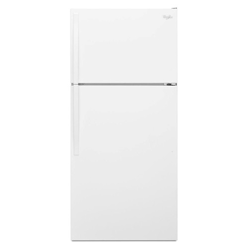 Whirlpool 14 C/F Refrigerator with Top Freezer Wire Shelves, No Ice Maker, ADA Compliant, WRT104TFD, White