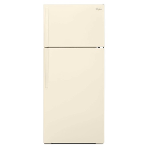 Whirlpool 16 C/F Refrigerator with Top Freezer Wire Shelves, No Ice Maker, WRT106TFDT, Bisque