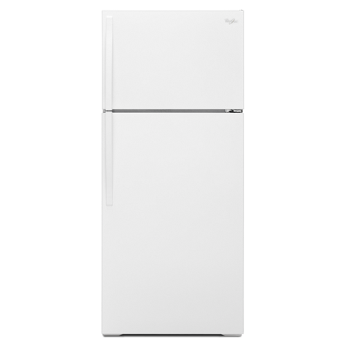 Whirlpool 16 C/F Refrigerator with Top Freezer Wire Shelves, No Ice Maker, WRT106TFDW, White