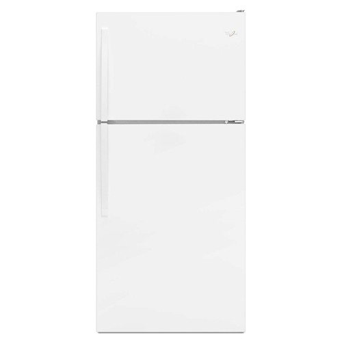 Whirlpool 18 C/F Refrigerator with Top Freezer Glass Shelves, No Ice Maker, ADA Compliant, Energy Star,WRT318FZDW ,White