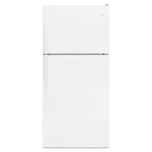 Whirlpool 18 C/F Refrigerator with Top Freezer Wire Shelves, No Ice Maker, ADA Compliant, WRT108FZDW, White