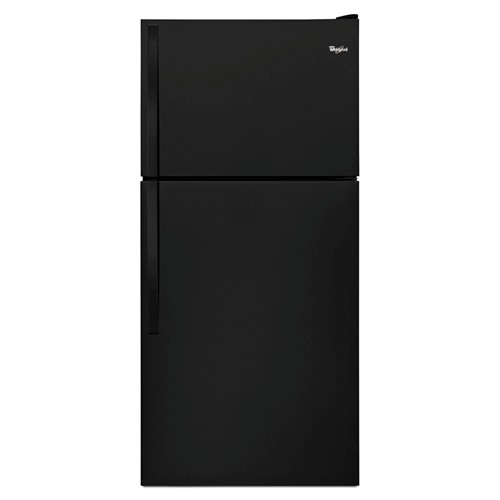 Whirlpool 18 C/F Refigerator with Top Freezer Wire Shelves, No Ice Maker, ADA Compliant, Energy Star, WRT138FZDB, Black
