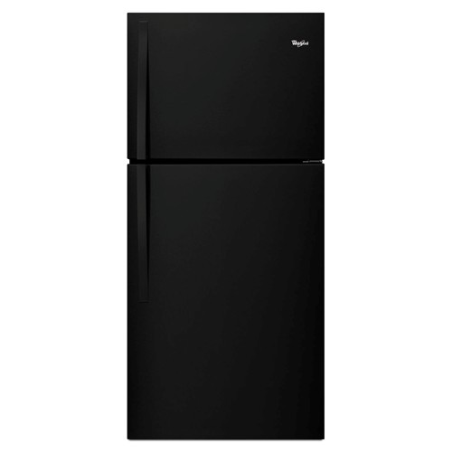 Whirlpool 19 C/F Refrigerator with Top Freezer Glass Shelves, No Ice Maker, ADA Compliant, Energy Star,WRT549SZDB, Black