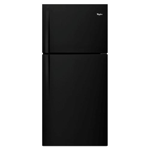 Whirlpool 19 C/F Refrigerator with Top Freezer Glass Shelves, No Ice Maker, ADA Compliant, Energy Star,WRT549SZDB, Black