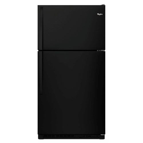 Whirlpool 20 C/F Refrigerator with Top Freezer Glass Shelves, No Ice Maker, ADA Compliant, Energy Star, WRT311FZDB, Black