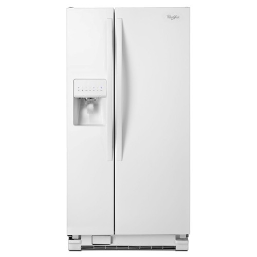 Whirlpool 21 C/F Refrigerator Side by Side with Water/Ice Dispenser, Glass Shelves