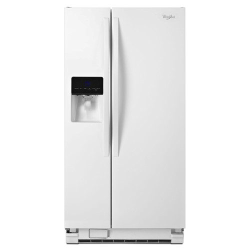 Whirlpool 21 C/F Refrigerator Side by Side with Water/Ice Dispenser, Glass Shelves, ADA Compliant,WRS342FIAW, White