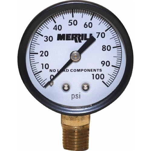 Simmons Mfg. Low Lead Pressure Gauge