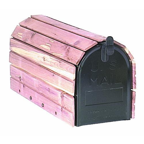 Solar Group Cedar Wrap Mailbox