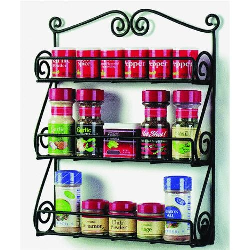 Spectrum Scroll Wall Mount Spice Rack