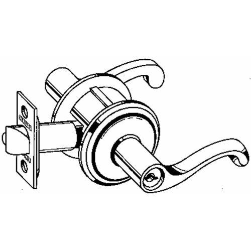 Schlage Lock Flair Box Lever Entry Triple Latch Lockset