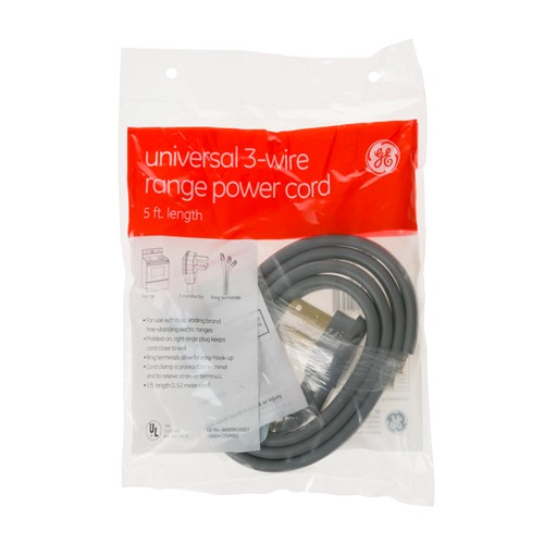 General Electric WX09X10007 5' 40amp 3 wire range cord