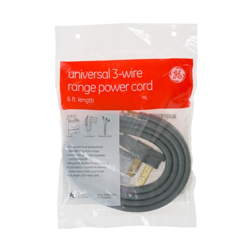 General Electric WX09X10012 Range Cord - 6'  50 amp 3 wire
