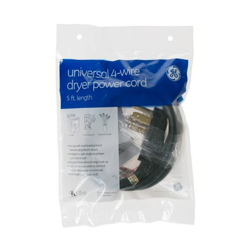 General Electric WX09X10019 5' 30amp 4 wire dryer cord