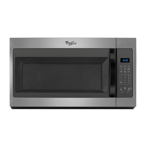 Whirlpool Microwave 1.7 C/F  Over-The-Range, 1000 Watts, 2 Speed, 300 CFM Vent, WMH31017FD, Silver Mist