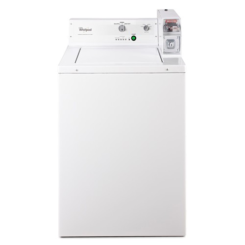 Whirlpool 2.9  C/F Commercial Washer, Coin Operated, CAE2743BQ, White