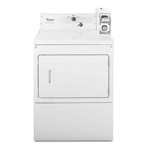 Whirlpool 7.4 C/F Commercial Electric Dryer, Coin Operated, CEM2743BQ, White