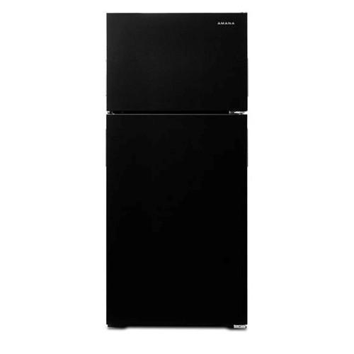 Amana 16 C/F Refrigerator with Top Freezer Wire Shelves, No Ice Maker