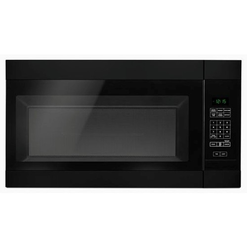 Amana Microwave 1.6 C/F  Over-The-Range, 1000 Watts, 2 Speed, 300 CFM Vent, AMV2307PFB, Black