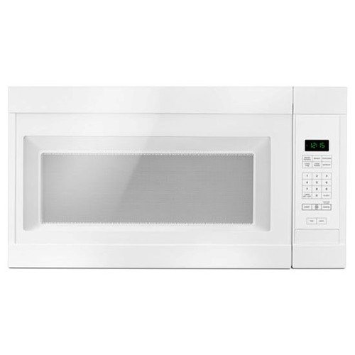 Amana Microwave 1.6 C/F  Over-The-Range, 1000 Watts, 2 Speed, 300 CFM Vent, AMV2307PFW, White