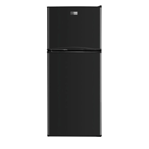Frigidaire 12 C/F Refrigerator with Top Freezer Glass Shelves, No Ice Maker, ADA Compliant,FFTR1222QW, Black