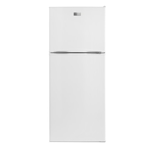 Frigidaire 12 C/F Refrigerator with Top Freezer Glass Shelves, No Ice Maker, ADA Compliant,FFTR1222QB , White