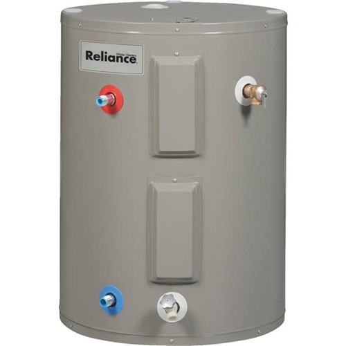 Reliance 38 Gallon Lowboy Electric Water Heater with Side Plumbing