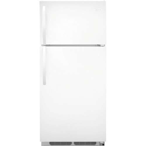 Frigidaire 16 C/F Refrigerator with Top Freezer, Energy Star, Glas Shelves, No Ice Maker, ADA Compliant, FFTR1621RW, White