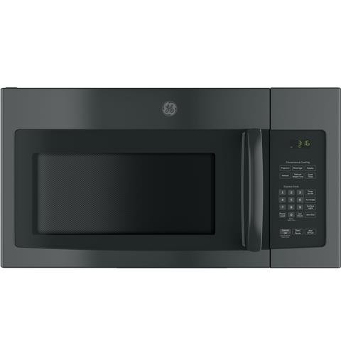General Electric Microwave 1.6 C/F  Over-The-Range, 1000 Watts, 2 Speed, 300 CFM Vent, Convertible, JVM3162DJBB, Black