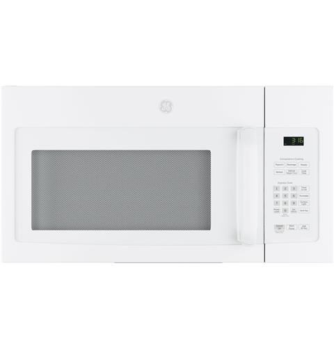 General Electric Microwave 1.6 C/F  Over-The-Range, 1000 Watts, 2 Speed, 300 CFM Vent, Convertible, JVM3162DJWW, White