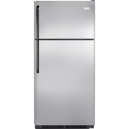 Frigidaire 18 C/F Refrigerator with Top Freezer,  Energy Star, Wire Shelves, No Ice Maker, ADA Compliant, FFTR1814QS, Stainless Steel