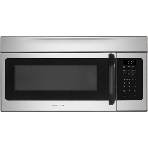 Frigidaire Microwave 1.6 C/F, Over-The-Range, FFMV162LS, Stainless Steel