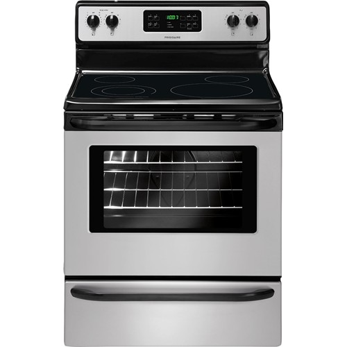 "Frigidaire 30"" Freestanding Electric Range Smoothtop Self Clean, Window, Clock, FFEF3018LS, Stainless Steel"