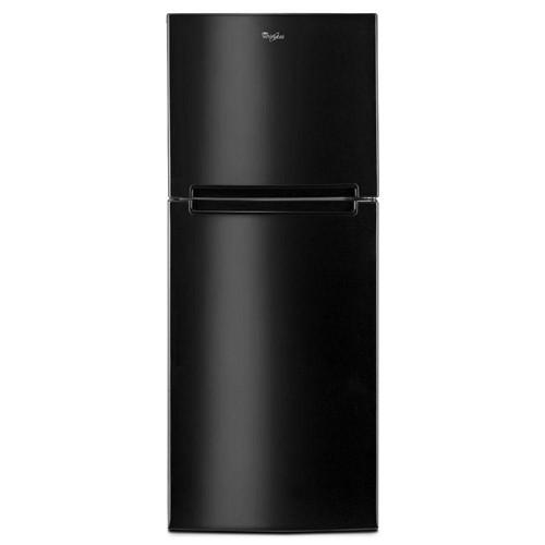 Whirlpool 11 C/F Refrigerator with Top Freezer Glass Shelves, No Ice Maker, ADA Compliant,WRT111SFDB, Black