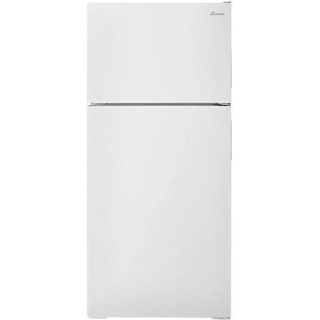 Amana 16 C/F Refrigerator with Top Freezer Wire Shelves, No Ice Maker, ART106TFDW, White