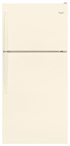 Whirlpool 18 C/F Refrigerator with Top Freezer Wire Shelves, No Ice Maker, ADA Compliant, WRT108FZDT, Bisque