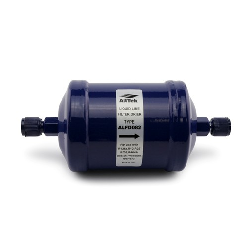 "AllTek Liquid Line Filter Drier, Unit Size 8 Cubic Inch, 1/4"" Flare Connection"