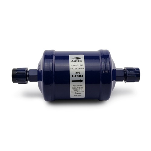 "AllTek Liquid Line Filter Drier, Unit Size 8 Cubic Inch, 3/8"" Flare Connection"
