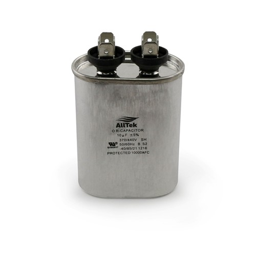 AllTek Oval Run Capacitor  10 MFD x 370/440V