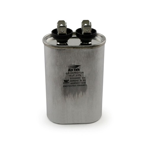 AllTek Oval Run Capacitor  15 MFD x 370/440V