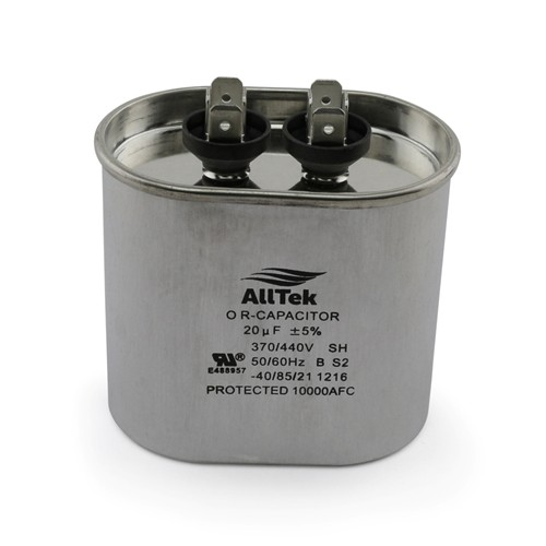 AllTek Oval Run Capacitor  20 MFD x 370/440V