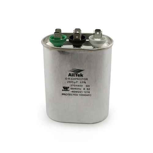 AllTek Oval Run Capacitor  25 + 5 MFD x 370/440V