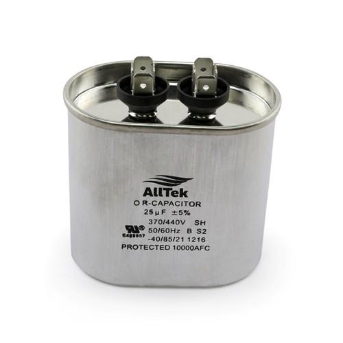 AllTek Oval Run Capacitor  25 MFD x 370/440V