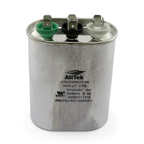 AllTek Oval Run Capacitor  30 + 5 MFD x 370/440V