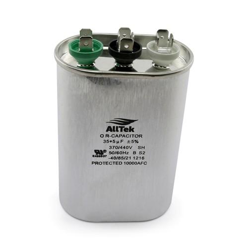 AllTek Oval Run Capacitor 35 + 5 MFD x 370/440V